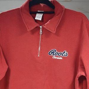 Roots Classic 1/4 Zip Polo Shirt, Sz XS